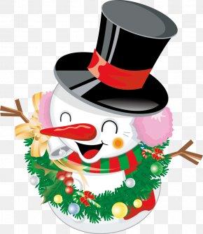 Cartoon Christmas Vector Material - Cookie Clicker Santa Claus Christmas Decoration Snowman PNG