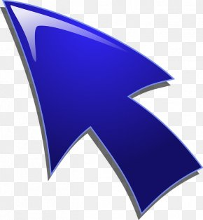 Blue Arrow - Computer Mouse Pointer Arrow Clip Art PNG
