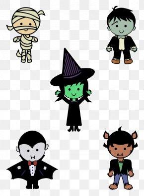Halloween - Halloween Classic Clip Art Monster Clip Art PNG