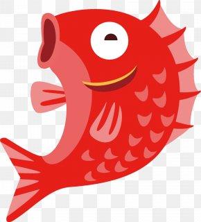 Mouth Cartoon - Clip Art Fish Red Cartoon Fish PNG