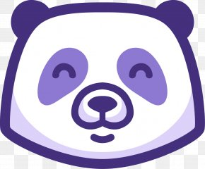 Vector Panda Avatar - Giant Panda Bear Purple Panda Digital Logo PNG