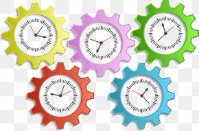 Vector Clock Gears - Gear Pinion Sizzix Clip Art PNG