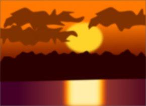 Sunsets Cliparts - Sunset Dusk Clip Art PNG