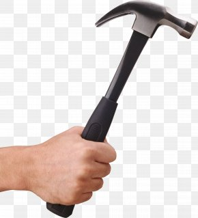 Hammer In Hand Image - Hammer Handle Tool PNG