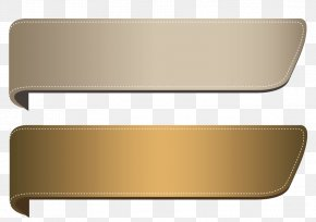 Gold Ribbon - Web Banner Paper Clip Art PNG