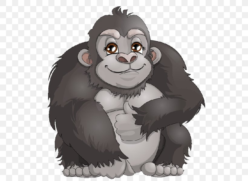 Western Gorilla Ape Chimpanzee Cartoon Clip Art, PNG, 600x600px, Western Gorilla, Animation, Ape, Bear, Carnivoran Download Free