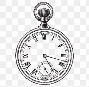 Hand-painted Alarm Clock - Pocket Watch Clock Clip Art PNG