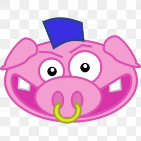 Picture Of A Pink Pig - Domestic Pig Free Content Clip Art PNG