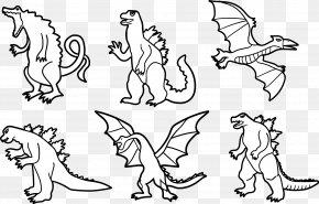 Vector Dinosaurs - Godzilla Visual Arts Drawing PNG