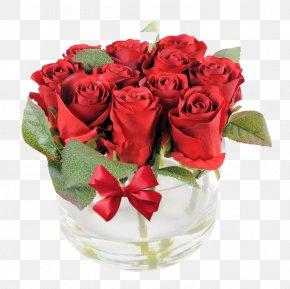 Red Rose Flower Arrangement - Flower Bouquet Garden Roses Artificial Flower Red PNG
