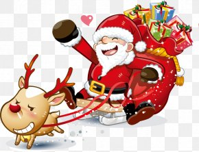 Santa Claus Creative - Santa Claus Christmas Clip Art PNG