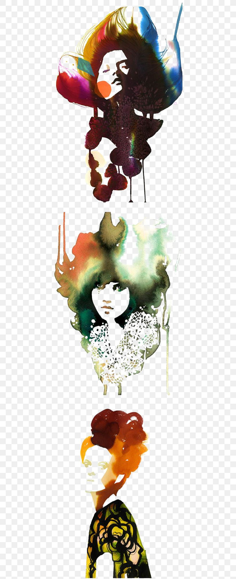 Watercolor Painting Drawing Fashion Illustration Art Illustration, PNG, 450x2008px, Watercolor Painting, Art, Artist, Color, Drawing Download Free