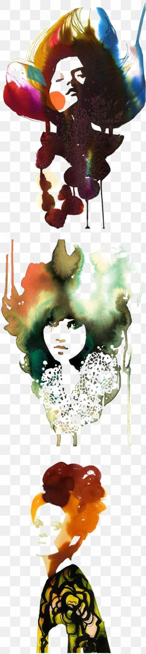 Rock Woman - Watercolor Painting Drawing Fashion Illustration Art Illustration PNG
