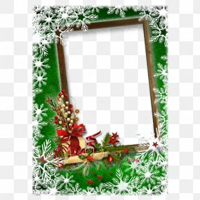 Romantic Christmas Frame - Christmas Card New Year Picture Frame Greeting Card PNG