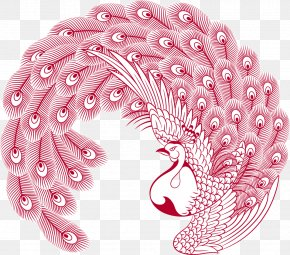 Peacock Chinese Wind Vector PNG
