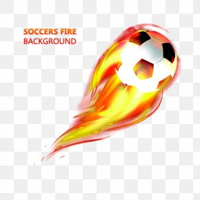 Fire Football - Light Fire Flame Football PNG