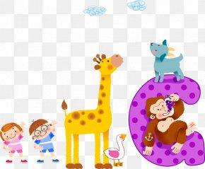 Cute Kids Cartoon Giraffe Letter - Cartoon Animation Comics PNG