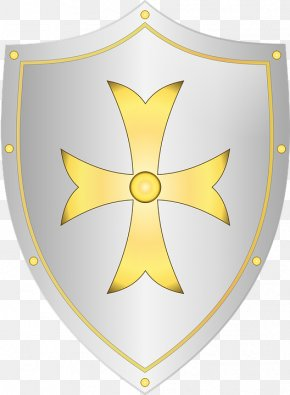 Cartoon Shield - Knight Shield Sword Clip Art PNG