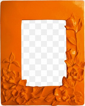 Picture Frame Orange - Picture Frame Frame PNG