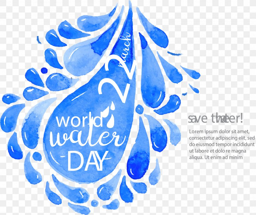 Water Drop Euclidean Vector Durfort, PNG, 1986x1664px, World Water Day, Blue, Brand, Drawing, Drop Download Free