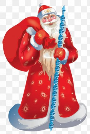 Santa Claus - Ded Moroz Snegurochka New Year Ziuzia Grandfather PNG