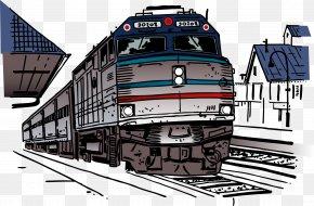 Animation Illustration Hand Painted Retro Tin Train - Train Rail Transport Railroad Car Clip Art PNG