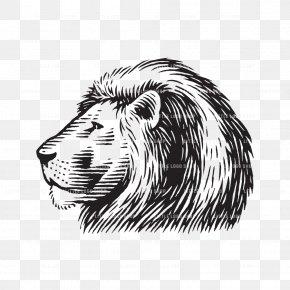 Lion - Lion Tiger Logo Wood Roar PNG