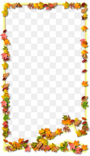 Autumn Leaf Outline - Autumn Leaf Picture Frame Clip Art PNG