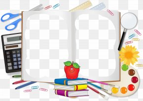 Cartoon Book Pencil Free To Pull The Material Picture - Student School Supplies Clip Art PNG