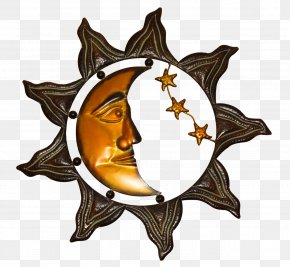 Sun And Moon Metal Ornament PNG
