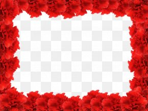 Red Flower Frame Photo - Picture Frame Rose Red PNG