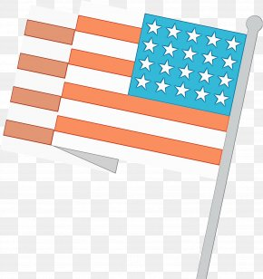 Flag Wet Ink - Watercolor Background PNG
