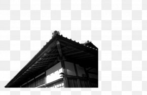 Cartoon China Wind Creative Chinese Wind Image,Angle - Architecture Black And White PNG