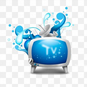 Front Splash Background Cartoon TV - Television Channel Card Sharing IPTV Download PNG
