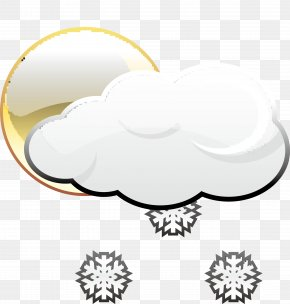 Snowy Weather Icon - Weather Rain And Snow Mixed Cloud Icon PNG