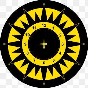 Vector Modern Clock - Abstract Art Sun Clip Art PNG