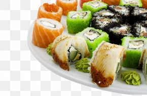 Glutinous Rice Cake Cuisine - Japanese Cuisine Sushi Spring Roll Seafood Wallpaper PNG