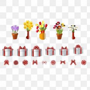 Gift - Petal Flowerpot Pattern PNG