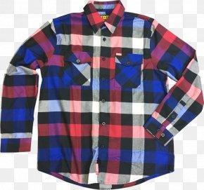 T-shirt - Flannel Tartan Nightshirt T-shirt PNG
