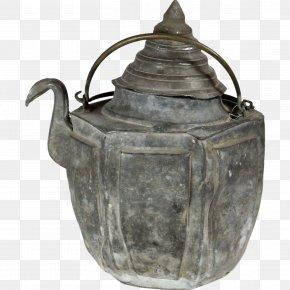 Tea Pot - Teapot Kettle Pewter Metal Antique PNG