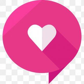 Love Couple - Heart Speech Balloon PNG