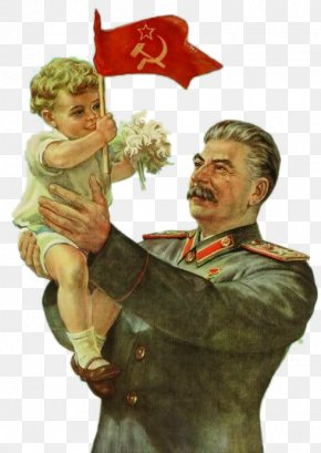 Stalin And The Soviet Red Flag Holding Baby - Joseph Stalin Five-year Plans For The National Economy Of The Soviet Union Propaganda In The Soviet Union PNG