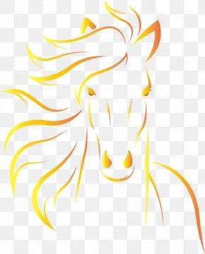 Vector Horses - Text Cartoon Line Art Clip Art PNG