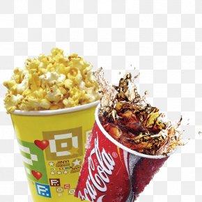Popcorn Cola - Coca-Cola Popcorn Soft Drink Junk Food PNG
