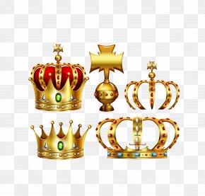 Vector Gold King Crown Decoration - Crown Clip Art PNG