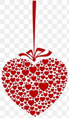 Hanging Heart Transparent Clip Art Image - Heart Clip Art PNG