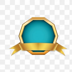 Gold Ribbon Border Polygon - Ribbon Computer File PNG