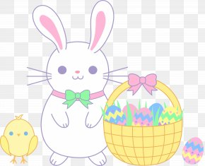 Easter Rabbit - Easter Bunny Easter Egg Rabbit Clip Art PNG