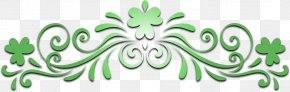 Lá Fhéile Pádraig - Leaf Logo Green Line Font PNG