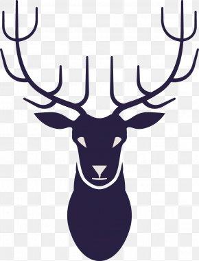 Flat Deer - Retro Style Art PNG